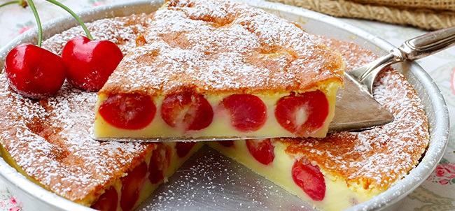 Le ricette di super Peppino: clafoutis di ciliegie